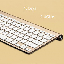 Mini Wireless Keyboard Slim 2.4G 78Keys with Multimedia for MACBOOK,LAPTOP,TV BOX Computer PC ,android tablet