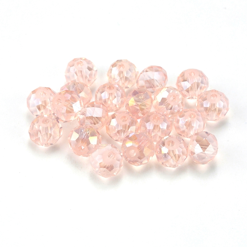 wholesale 4-8mm silk ab faceted glass round beads Rondelle crystal Austria beads