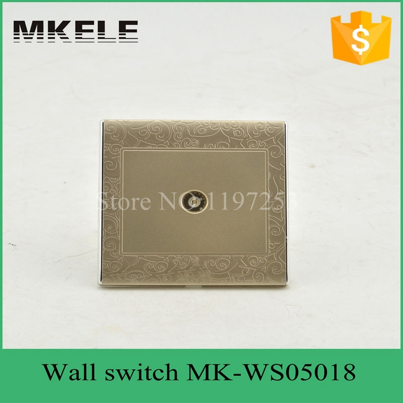 MK-WS05018 free ship PC material high temperature resistant Silver alloy contact 220V safety European standard TV wall socket шессе ж двойник святого желтые глаза
