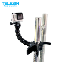 Free Shipping Jaws Flex Clamp Mount And Adjustable Neck For GoPro Accessories Or Camera Hero1 2