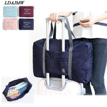 2017 Hot Casual Stor kapasitet bagasje Emballasje Tote / Shoulder Travel Shopping Big Bag Folding Clothes Storage Pouch Organizer
