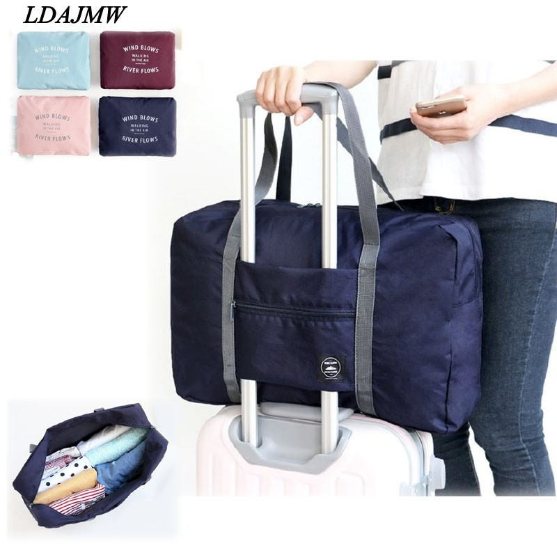 LDAJMW Hot Casual Large Capacity luggage Packing Tote/Shoulder Travel Shopping Big Bag Folding Clothes Storage Pouch Organizer
