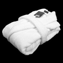 Albornoz de algodón para hombre, albornoz de hombre grueso, toalla larga, Polar, cálido, suave, de invierno, camisón para mujer, camisón de señora, hotel en casa, ama