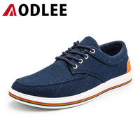 AODLEE Plus Size 47 Spring Mens Shoes Casual Breathable Fashion Canvas Shoes Men Sneakers Lace up Men Loafers Boat Casual Shoes