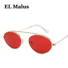 667c781810 [EL Malus] Retro Metal marco Oval gafas de sol mujer hombre mujer Sexy  señoras