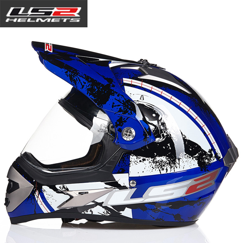 LS2 MX433 внедорожный мотоциклетный шлем с ветрозащитным щитом мотокросса шлемы костюм для мужчин и женщин одобренный ECE - Цвет: 8