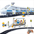 8221 Remote Control toys train station 662pcs  RC Transport Plastic classic toys Model Building Block Sets kids Toys