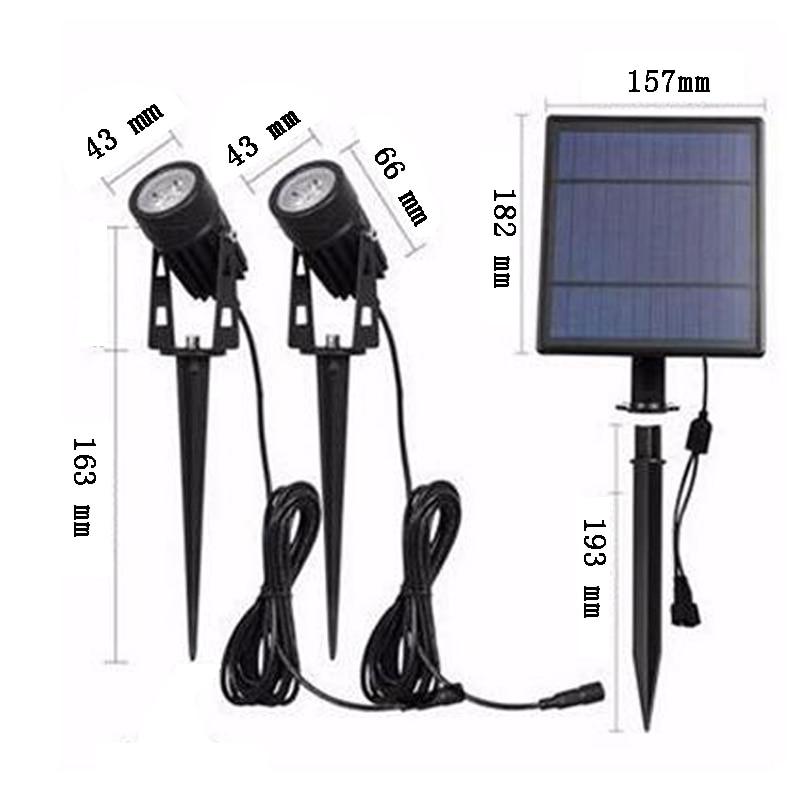 cabeca dupla led painel solar alimentado luzes 02
