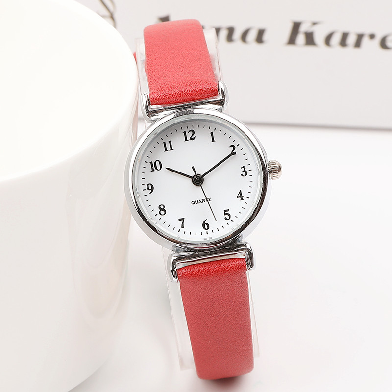 Exquisite small simple women dress watches retro leather female clock Top  brand women's fashion mini design wristwatches clock