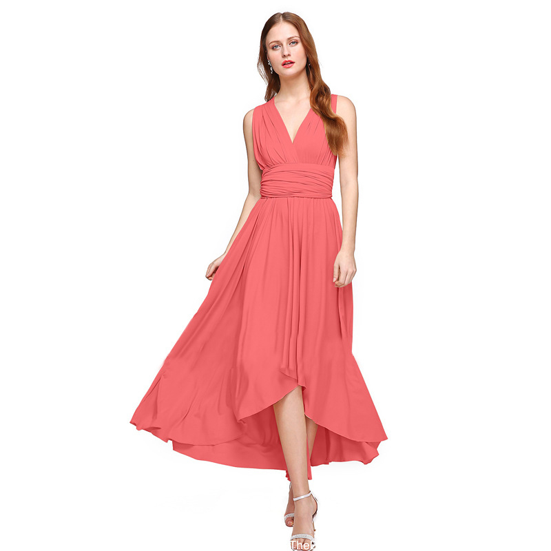 Detail Feedback Questions about Multiway Wear Women Maxi Dress Sexy  Irregular Lap Off Shoulder Ankle length Bridesmaids Pregnant Convertible  Dress FS520 on ... 80f5de6b76ad