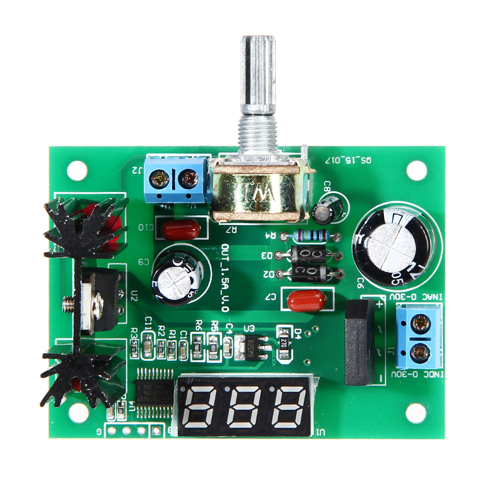 LM317 AC/DC - DC 1.25-28V LED display Adjustable Voltage Regulator Step-down Power Supply Module 2A NG4S lm317 lm337 adjustable filtering power supply kits diy ac dc voltage regulator