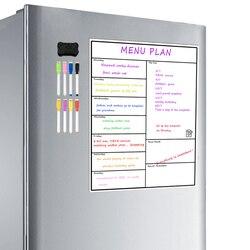Магнитная доска для еженедельного планировщика с сухим стиранием, еженедельная доска для холодильника, настольная доска с календарем, усто...