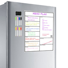 Magnetic Dry Erase Weekly Planner Board Refrigerator Weekly Whiteboard Calendar Resistant Technology Family, Home, Office Fridge(China)