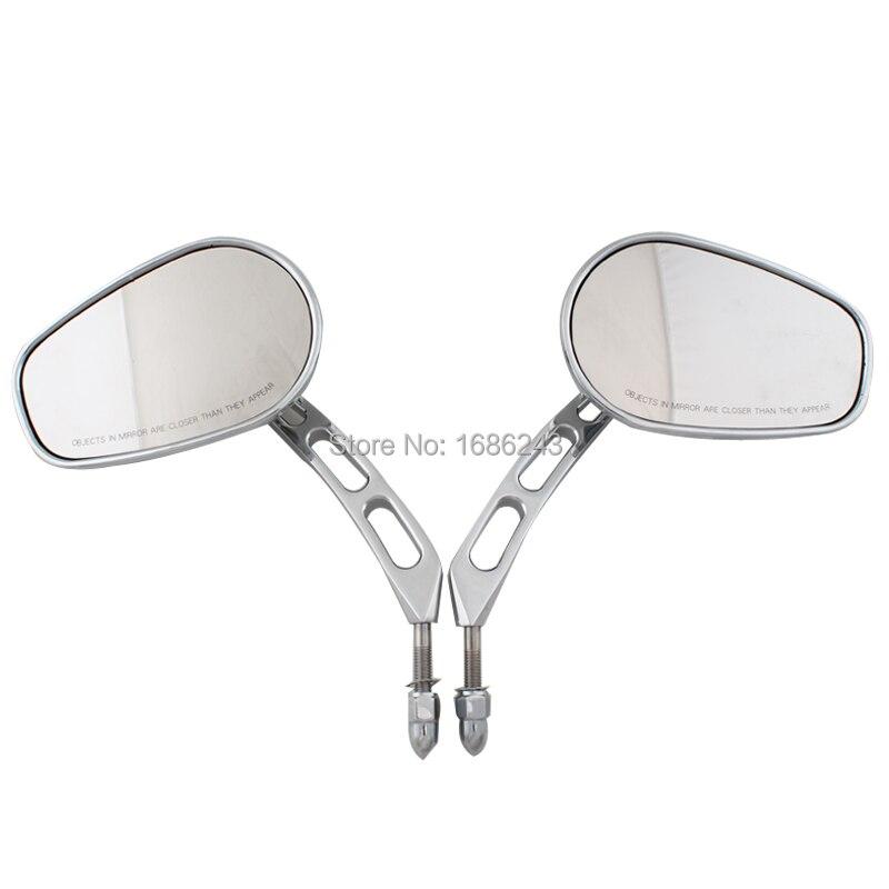 Rear View Mirrors Fits For Harley Road King Touring XL 883 Sportster Fatboy FLSTC FLSTB FXDB