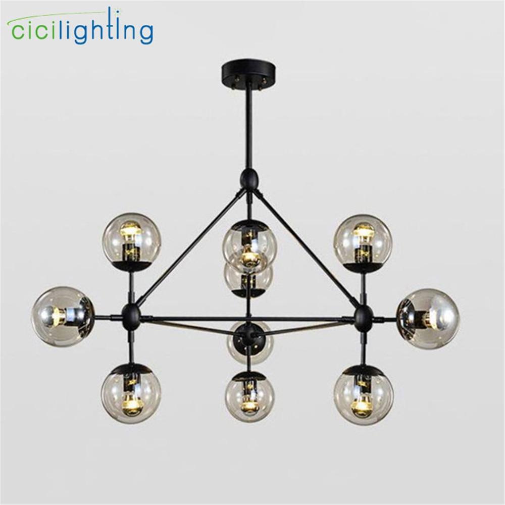 Modern Lustres chandelier lights industrial led lamps Nordic Art Deco glass ball hanging lighting dining room
