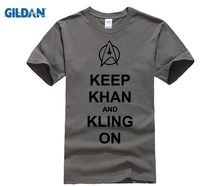 Mens Mantenere Khan E Star Trek Klingon T Shirt-Divertente Star Star trek Tshirt-Spock(China)