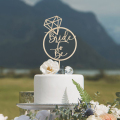 Свадебный торт Топпер для свадебного душа Индивидуальный Прием гостей в доме невесты украшения деревенский обрученный торт Топпер