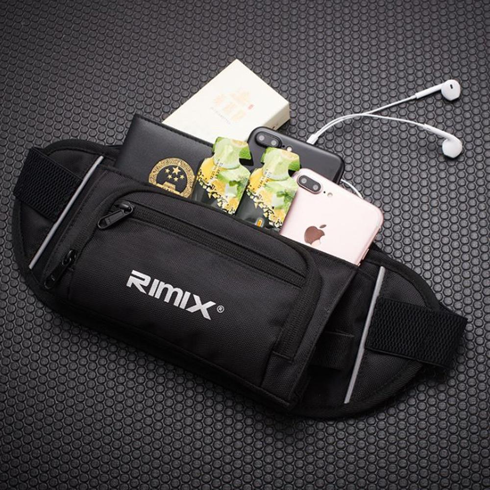 RIMIX Unisex Foldable Multi-pocket Kettle Running Waist Bag Marathon Storage Jogging Belt Pack For Outdoor Sports  Hiking Climb