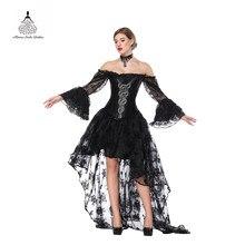 e592e2d67ff Corset Slimming Women Bustier sexy Steampunk clothing gothic Dresses lace dress  corset underbust PUNK RAVE Pure