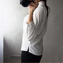 GOPLUS 2018 White Blouse Women Shirt Cotton Tops Sweets Stand Collar Stand Collar Long Sleeves Blusas Femininas C4270