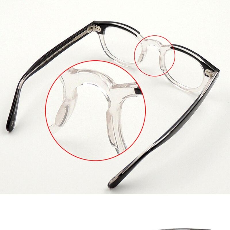 Image 4 - Johnny Depp Glasses Optical Glasses Frame Men Women Computer Transparent Eyeglass Brand design Acetate Vintage Fashion Q313 2Mens Eyewear Frames   -