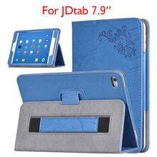 Para jdtab 7.9 pulgadas tablet case funda flip pu del soporte del cuero cubierta de la Impresión Colorida Carcasas Para JDtab JD tab 7.9 Concha Protectora piel