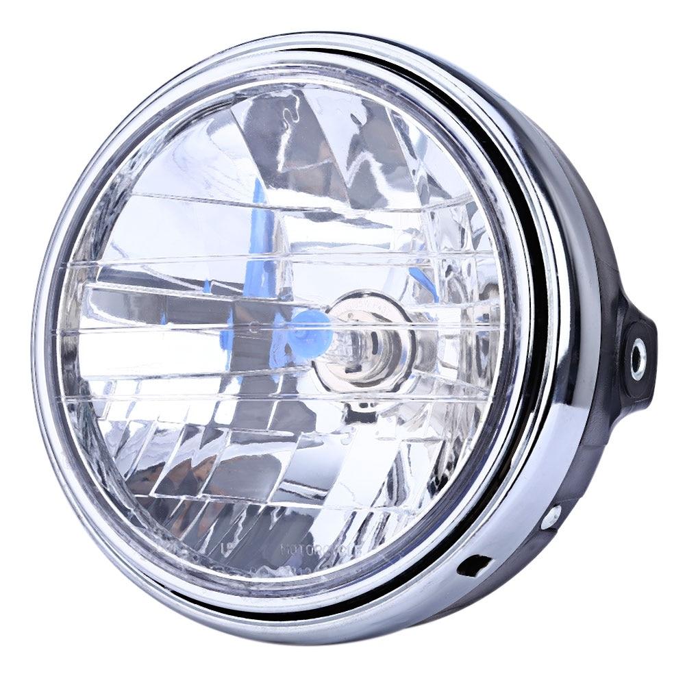12V Motorcycle Crystal Round Headlight Modified Headlamp Assembly for Honda Bumblebee CB400 / 900