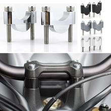купить For Suzuki DR125 DR200 DR250 DR350 DR600 DR650R DR750 DR800 7/8 22mm Handlebar Fat Bar Riser Mounting Riser Motorcycle Aluminum дешево