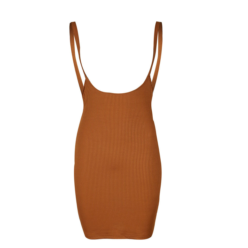 HTB1yp RaBKw3KVjSZTEq6AuRpXaK Women's Summer Dress Fashion Suspended Dresses Sexy Closed Receive Waist Pure Colored Dresses Brief Sleeveless Dress G0527#20