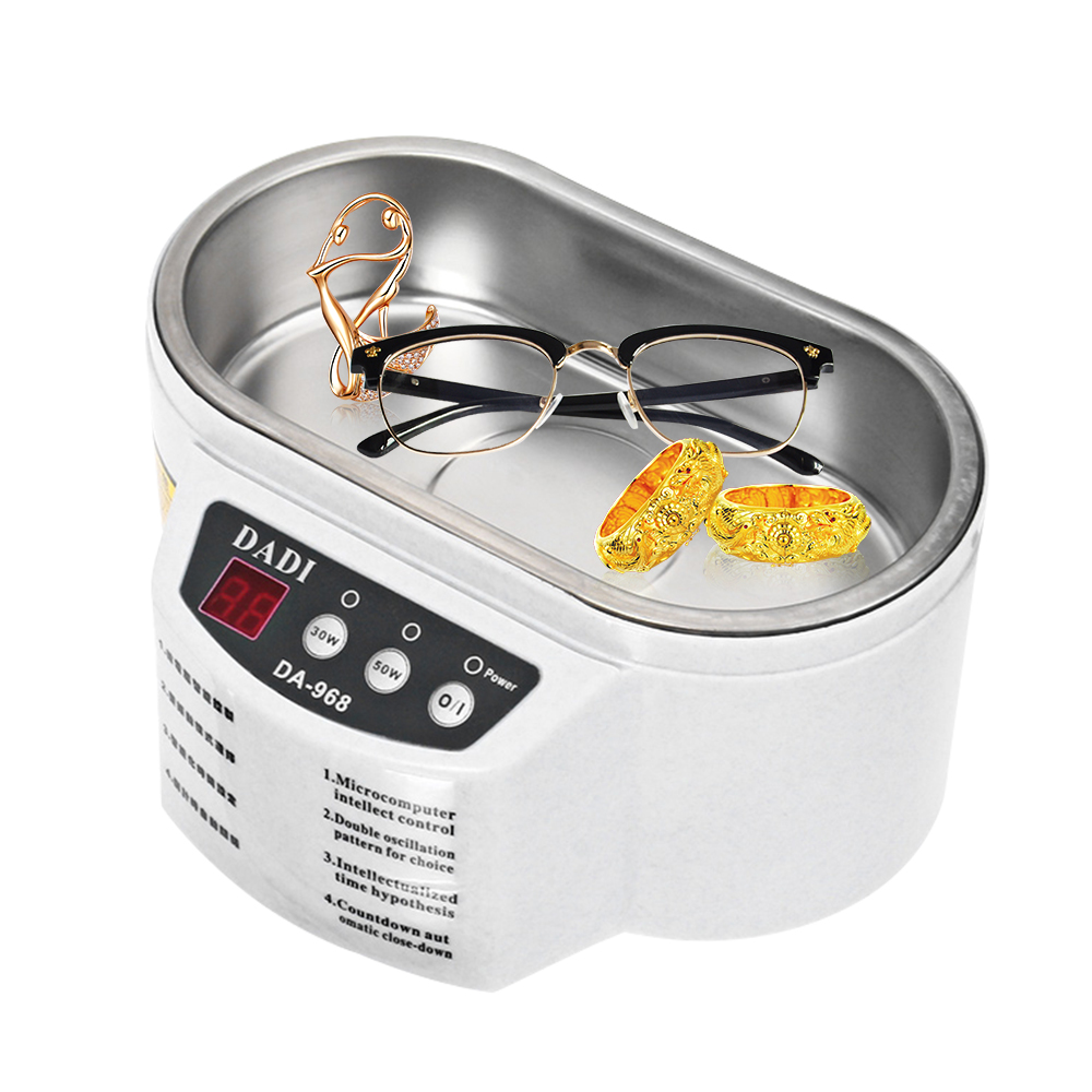 110v Mini Ultrasonic Cleaner Jewelry Glasses Circuit Board Watch Cd