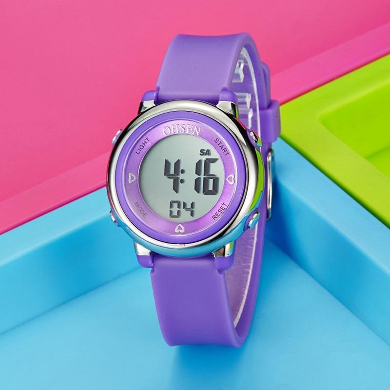 Kids Watches Children Digital LED Fashion Sport Watches Cute Boys Digital Girl Wrist Watch Waterproof Gift Watch Alarm Men Clock