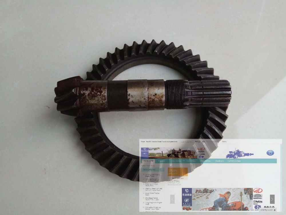 Shandong Taishan model TS254, the set of spiral bevel gear with shaft for front axle, Part number: 25.37.101-1 tc02311010047 tc0231101004 the housing for front axle