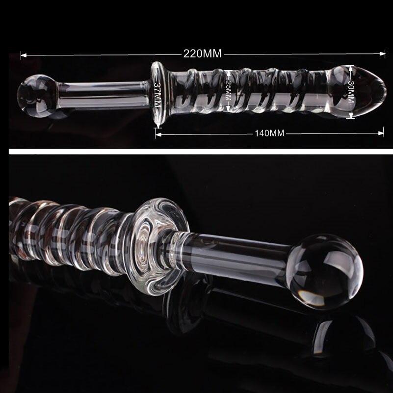 hh0151 Realistic Sensual Glass Anal Dildo (2)