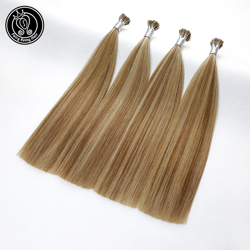 Remy Human Fusion Keratin Tip Hair On Capsules Double Drawn Indian Human Hair Extensions 0.8g/s 14-22 Inch 40g Fairy Remy Hair
