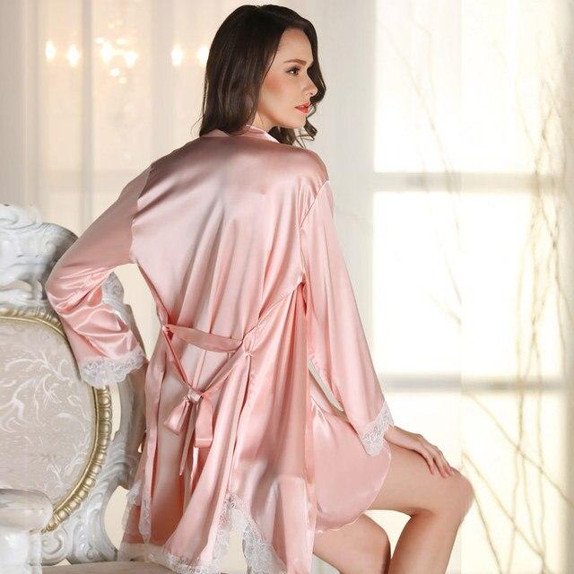 Senhoras Sexy Vestes de Cetim de Seda Pijamas Pijamas Vestido Babydoll Pijama DM1520