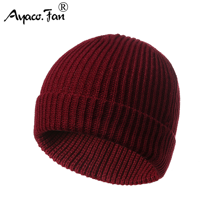Solid   Beanies   Hats 2019 New Autumn Winter Cute Knit Cap For Women Men Warm Knitted Caps   Beanie   Hat Casual Lady Girls   Skullies