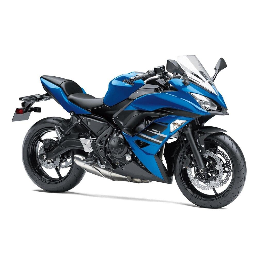 Синий черный Обтекатели Kawasaki ER6F 2017 2018 год ABS мотоциклов Обтекатели для Ninja650r 17 18 Пластик ABS инъекций капоты Новый
