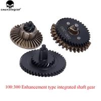 EMERSONGEAR 100 300 BD Enhancement Type Integrated Shaft Gear Set Airsoft CNC Machine Gear Box Set