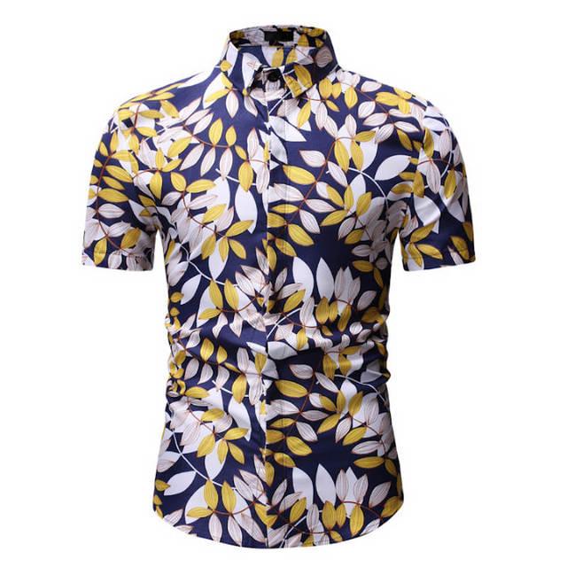 Men's Slim Fit Short Sleeve Shirts for Summer