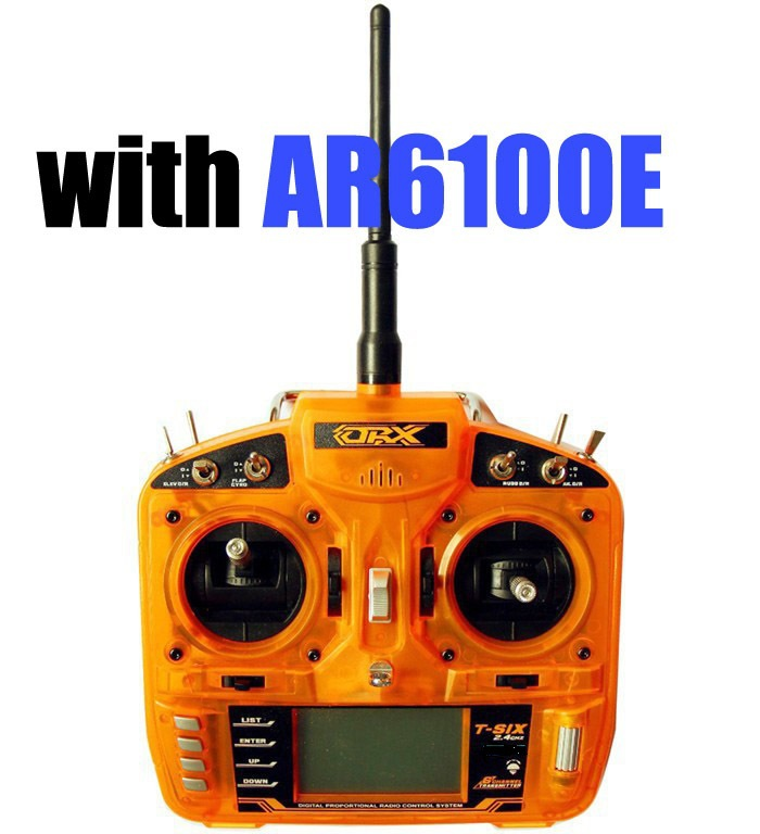 US $55 2 5% OFF|Genuine OrangeRx T SIX 2 4GHz 6CH Programmable Transmitter  with AR6100E RECEIVER DSM2-in Parts & Accessories from Toys & Hobbies on