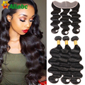 Rosa Hair Products With Closure 13*4 Brizilian Virgin Hair With Lace Frontal Closure 8a Grade Brazillian Body Wave With Closure