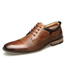Large Size Men's Shoes Leather Lace-up Shoes Business Dress Shoes