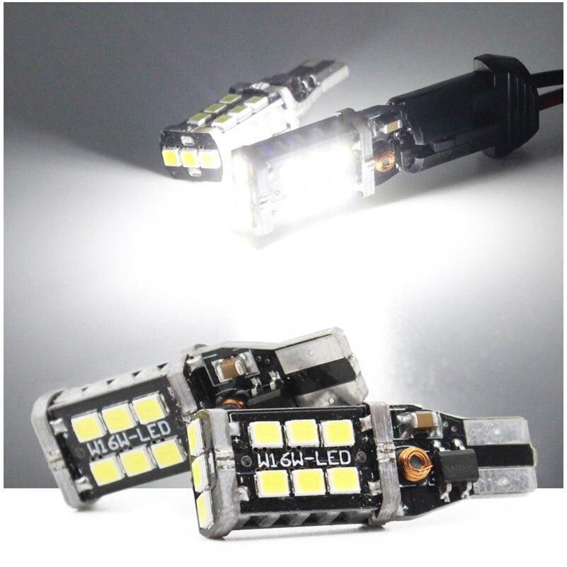 2X Canbus T15 W16W 2835 SMD 15 LED 15W Αντίσταση - Φώτα αυτοκινήτων - Φωτογραφία 4