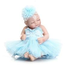 NPK printsess silikoonist täis keha Bebe Reborn nukud elutruu reaalse puudega vastsündinu magamiskotid beebi nukk võrgusilma disaini kingitus 28cm