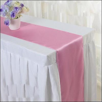 12X108 Satin Table Cloth Runner Wedding Decorations Living Room ...