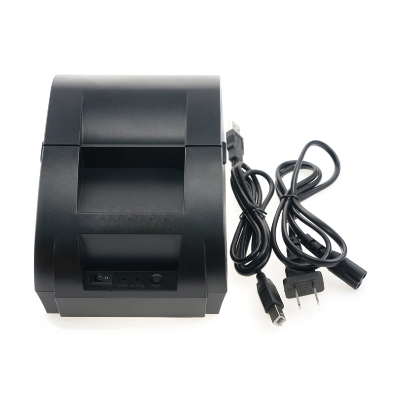 New arrival USB interface 58mm pos receipt printer thermal printing with power supply built-in free shipping