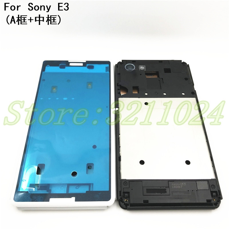 Front Mid Frame Plate Bezel For Sony Xperia E3 D2203 D2206 D2202 LCD Middle Chasis Replacement