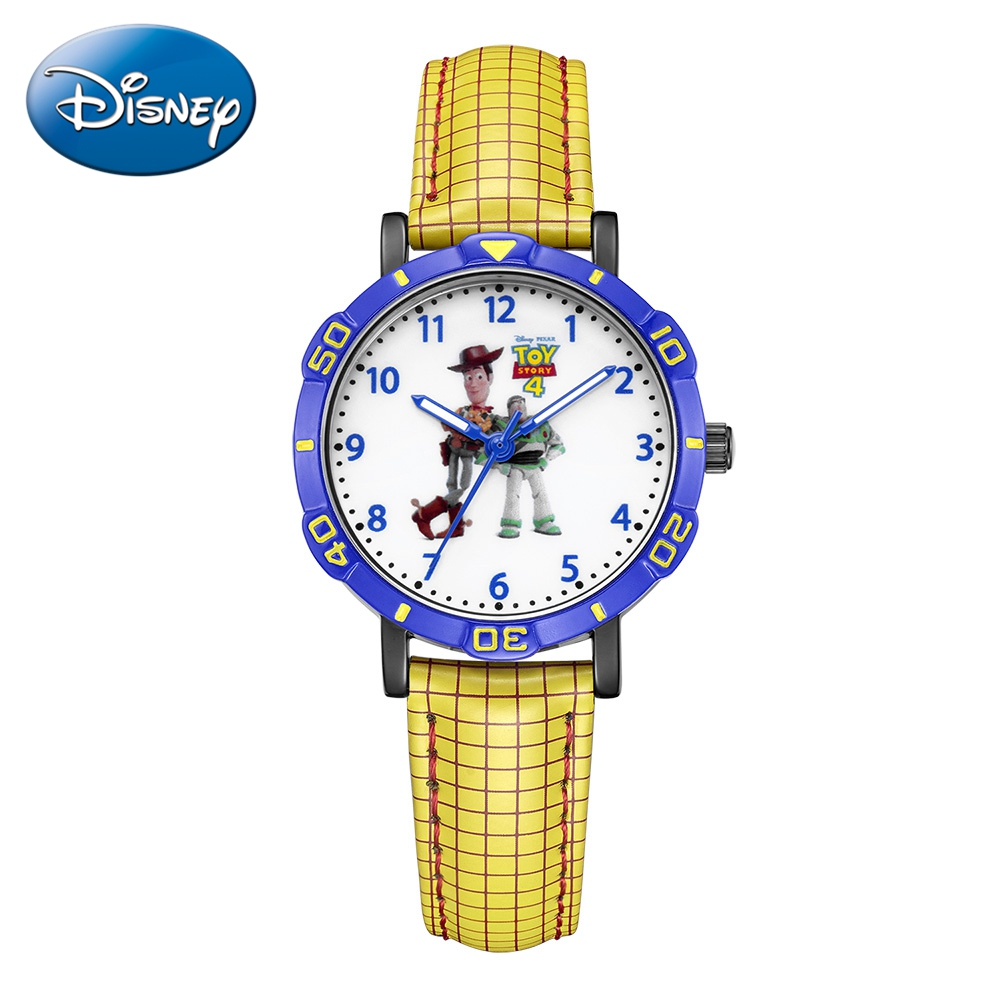Disney Toy Story Woody Buzz Lightyear Child Like Childhood Friend Japan Quartz Watch PU Waterproof Watches Boy Kid Birthday Gift