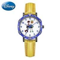 Disney Toy Story Woody Buzz Lightyear Kind Als Jeugdvriend Japan Quartz Horloge Pu Waterdichte Horloges Jongen Kid Verjaardagscadeau