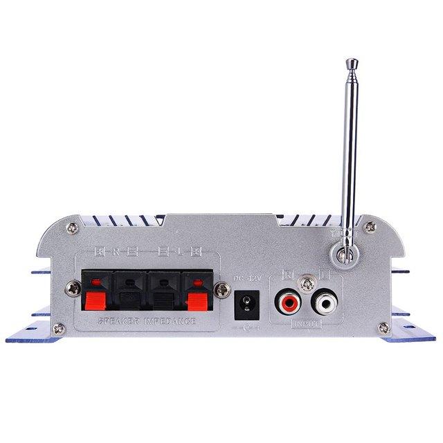 USB FM Audio 12V LED Car Stereo Amplifier Radio MP3 Speaker Hi-Fi 2 Channel Digital Display Power Player Support CD DVD